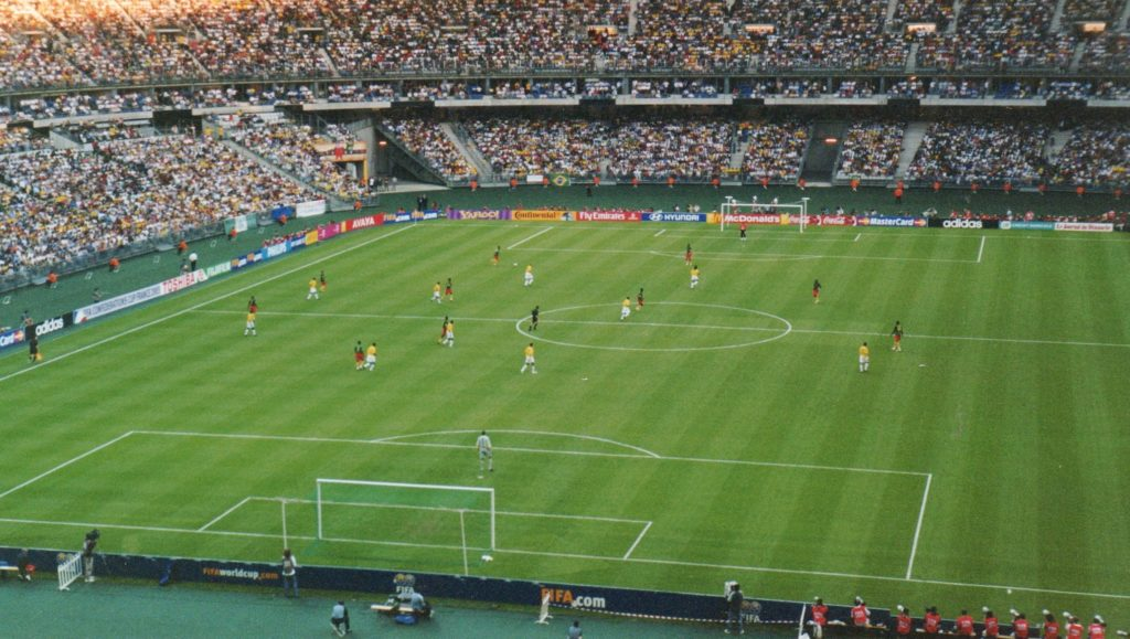 Le Brésil et le Cameroun s'affrontent lors de la Coupe des Confédérations 2003